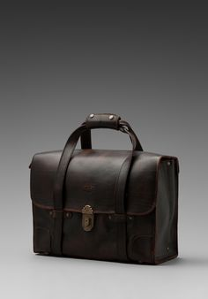 WILL LEATHER GOODS Everett Satchel Leather Bag in Brown - WILL Leather Goods.. Damn! Why must I want these so much!
