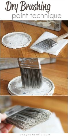 32 DIY Paint Techniques and Recipes - Dry Brushing Paint Technique - Cool Painting Ideas for Walls and Furniture - Awesome Tutorials for Stencil Projects and Easy Step By Step Tutorials for Painting Beautiful Backgrounds and Patterns. Modern, Vintage, Distressed and Classic Looks for Home, Living Room, Bedroom and More http://diyjoy.com/diy-paint-techniques