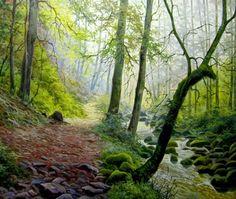 paisajes naturales realistas en oleo