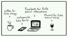 Coffe,instagram,facebook, alcohol for FAKE !