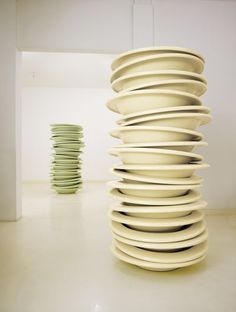 robert therrien, no title (stacked plates, butter), 2006