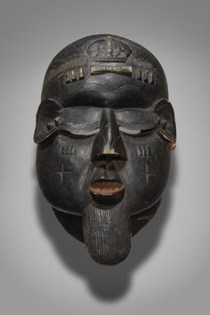 Mask Representing an Antisocial Male Character (Gongoli) African Masks, African Art, Liberia, African Countries, Sierra Leone, Geography, Art Gallery, Coast, University
