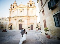 The ancient walled city of Mdina perched on Malta's highest natural point captured by Shane P Watts Wedding Photographer Malta