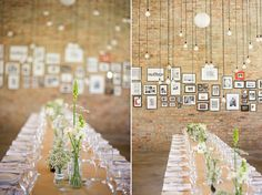 www.christinemeintjes.co.za  I love the idea of a wall filled with framed quotes, verses, photos etc that are special to the couple!