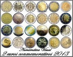 Piece Euro, Euro Coins, Coin Art, Old Coins, Coin Collecting, Correction Fluid, 2013, Stamps, Finance