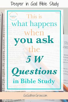 Inductive Bible Study may seem overwhelming, but take it step by step and you can do it! This post gives you everything you need to know to begin asking the 5 W's in your next Bible study. #InductiveBibleStudy #BibleStudy #biblestudyforwomen via @CindyBarnes01