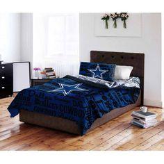 Dallas Cowboys Comforter Set Full NFL Bed In a Bag Bedroom Decor 5 Pieces New #DallasCowboysComforterSet