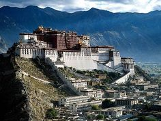 The Potala Palace located in the Red Hill of central Lhasa, China.