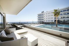 Terraza en los apartamentos Ibiza Royal Beach #Ibiza #pool #summer