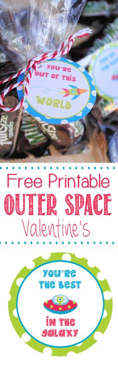 Free Printable Out Space Valentines