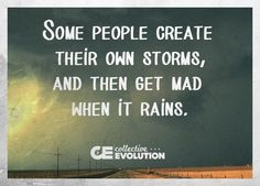 """""""Even if we are not consciously aware of it, many times we create our own storms. Don't play the victim role or blame others, learn from it and move on.""""-Collective Evolution Yep. Ain't that a fact! Attitude is everything. Let it be Love. Be Light As you are..."""