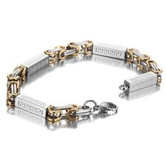 Details about  /Two-Tone Stainless Steel 15mm Polished//Satin Finish Genuine Diamond ID Bracelet