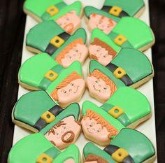 Leprechaun cookies for St. Patrick's Day