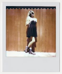 Melissa Brooks from Aqua Dolls in the Nasty Gal Sweetheart Skater Dress #nastygalsinthewild #polaroid