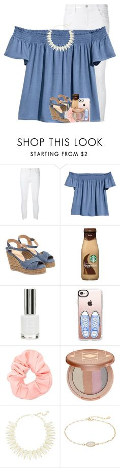 """""""RTD story time..."""" by betterbeliebitsemcaniff ❤ liked on Polyvore featuring J Brand, H&M, Castañer, Topshop, Casetify, Forever 21, tarte, Kendra Scott and LC Lauren Conrad"""