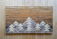 Reclaimed Wood Wall Art Wall Decor or Twin by EleventyOneStudio