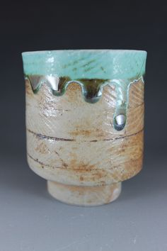 Soda fried slip cast cup by Lauren Young
