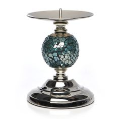 Wilko Mosaic Ball Candle Holder Teal at wilko.com