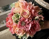 Handmade paper flowers from Marry Me Rosie on Etsy.  Simply amazing.