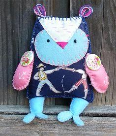 Pirate woodland Felt owl friend softie | Puddle Ducklings | madeit.com.au