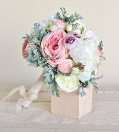Hey, I found this really awesome Etsy listing at https://www.etsy.com/listing/183307593/silk-bridal-bouquet-pink-peonies-dusty