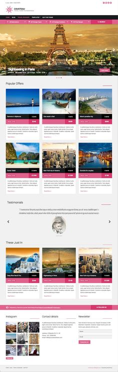 Cousteau #WordPress #Travel Packages Booking Theme - www.wpchats.com
