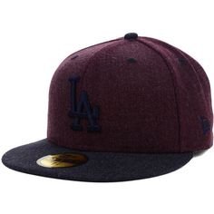 Los Angeles Dodgers MLB Heather Mashup 59FIFTY Cap ( 35) ❤ liked on Polyvore  featuring accessories 363a9d2f4bf1