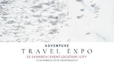 A creative expo event video template. A simple snowy background with adventure travel expo included.