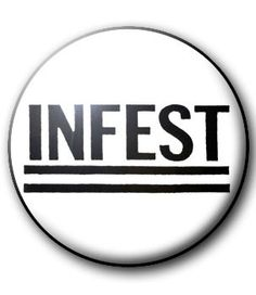 BADGE INFEST - badge punk - all our punk buttons 1 € - punk rock hardcore crust -