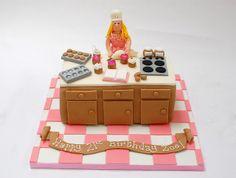 The Princess Chef Cake Beautiful Birthday Cakes, Beautiful Cakes, Amazing Cakes, Guys Birthday Parties, Chef Cake, Baker Cake, Fantasy Cake, Make Up Cake, Cake Decorating Videos