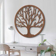 Holzdeko Mahagoni Furnier   Baum Des Lebens