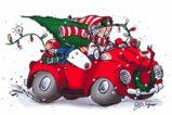 Maxine Christmas card cartoon