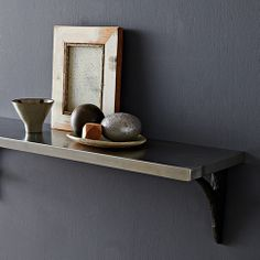 Stainless Steel Shelf at West Elm  available with different brackets