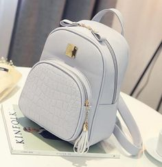 Backpack - Girls - Leather - Small Stylish School Bags b7fd24ad0e14a