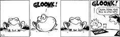 Calvin and Hobbes, September 13, 1986 - GLOONK!