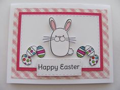 Easter Cards  Easter Bunny Card Happy Easter by SassyScrapsCrafts