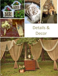 decorating with burlap & lace