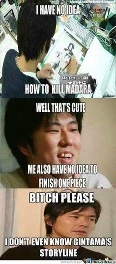 Naruto, One Piece, and Gintama lol