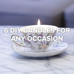 6 DIY Candles For Any Occasion // #candles #DIY