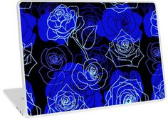 The Unattainable - Blue Roses Floral Pattern | Design available for PC Laptop, MacBook Air, MacBook Pro, & MacBook Retina