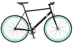 Color // Love the aqua, black and white combination on the Foamside Fixed Gear bike by Solé Bicycles #fun #color
