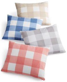 "Charter Club Damask Designs Gingham 14"" x 18"" Decorative Pillow, Only at Macy's  