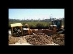 Stuck in The Mud, Komatsu Bulldozer to the Rescue