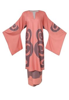 Maggie Kimono Sleeves Open Neck Top with Sarong Skirt from Tom Abang Saufi for ZALORA in pink_5