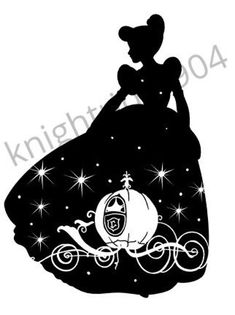 Disney Stencils, Cricut Stencils, Cricut Vinyl, Disney Crafts, Disney Art, Disney Silhouette Art, Cinderella Silhouette, Disney Ornaments, Disney Images