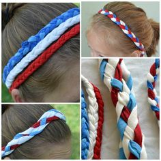 Patriotic Headbands from a T-shirt - Bless This Mess