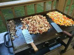Fajitas On The Griddle Outside On A Blackstonegriddle