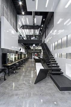 intuitive futuristic hairdresser shop interior design / #shop
