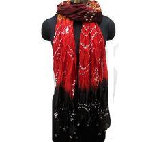 Tie and dye scarf/ banjara scarf/ multicolored  scarf/ sequin scarf/ art silk scarf/ fashion  scarf/ gift scarf / gift ideas. by vibrantscarves on Etsy