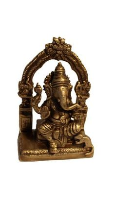 Shri Ganesha Darbaar Brass Statue with Antique finish. Long lasting idol with enmeshed and engraved work. Metal alloy sculpture